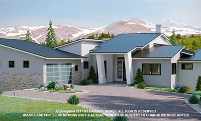 Semi-Custom Ranch Home Builders Floor Plan Colorado Springs